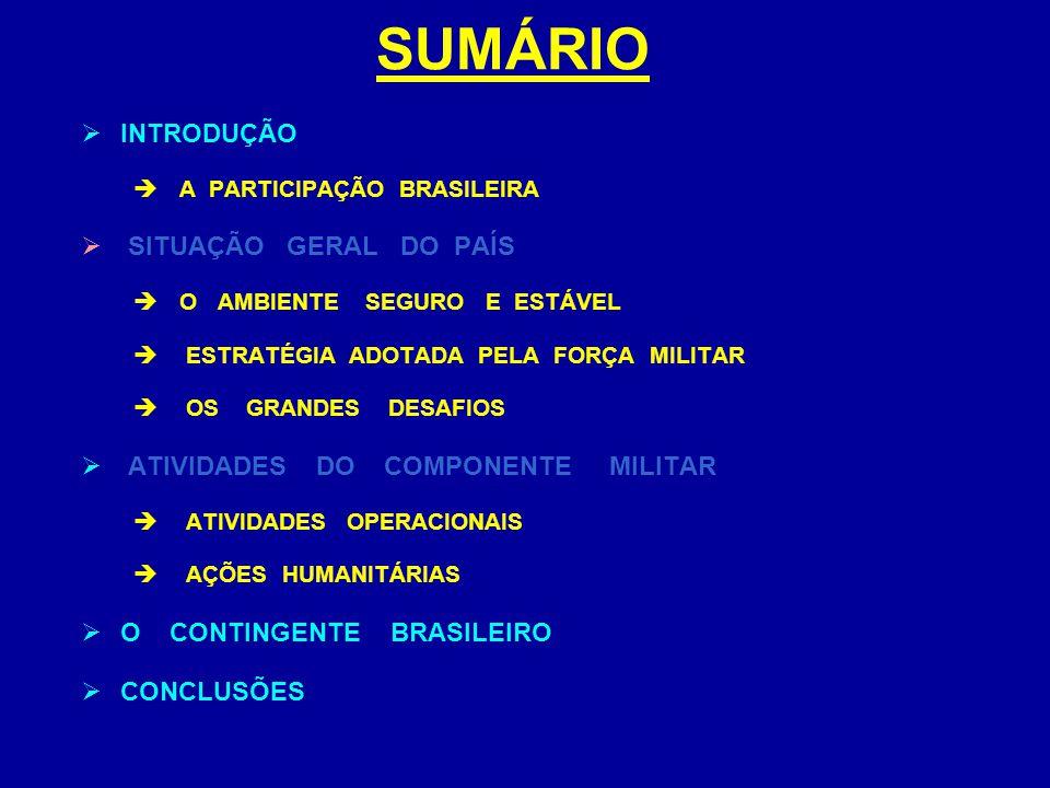 SITUAÇÃO ATUAL DESESTRUTURAÇÃO DE SETORES BÁSICOS:  SERVIÇOS PÚBLICOS  ADMINISTRAÇÃO PÚBLICA  POLÍCIA  JUSTIÇA  EDUCAÇÃO  SAÚDE.