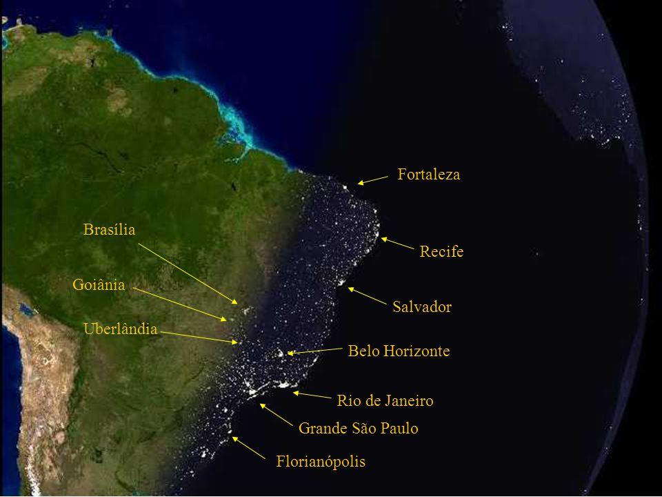 Atlantic Ocean Salvador Rio de Janeiro Grand São Paulo Belo Horizonte