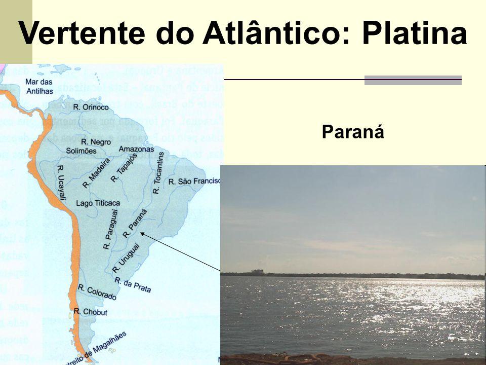 Vertente do Atlântico: Platina Paraná