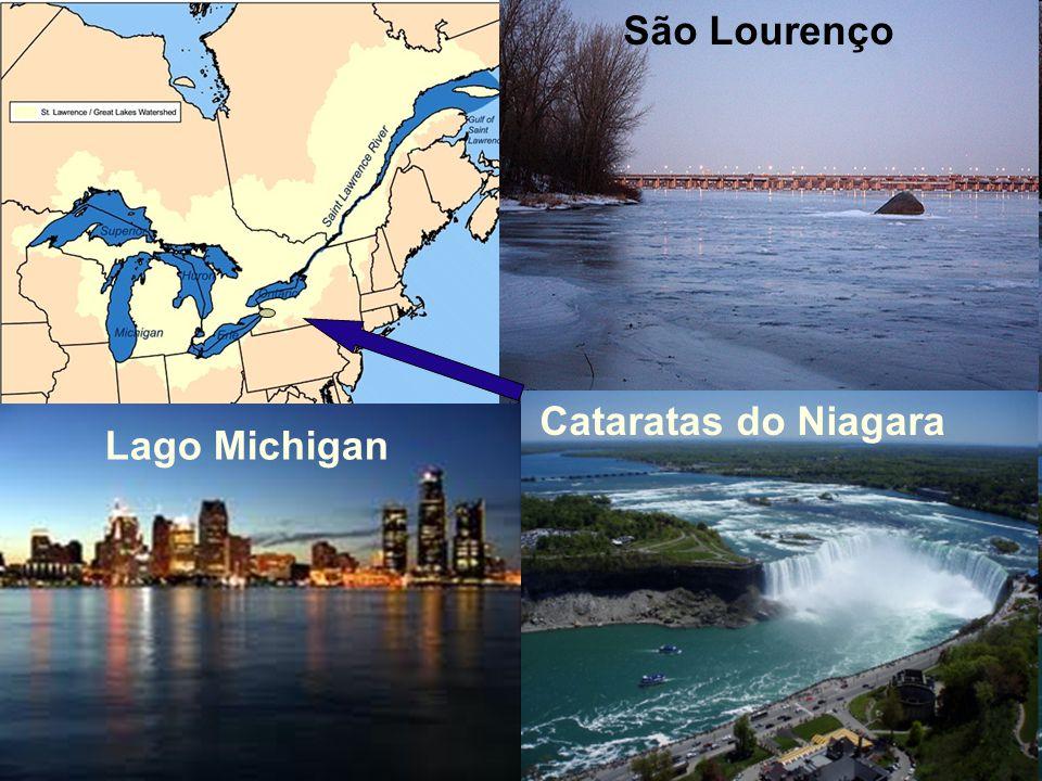 São Lourenço Lago Michigan Cataratas do Niagara
