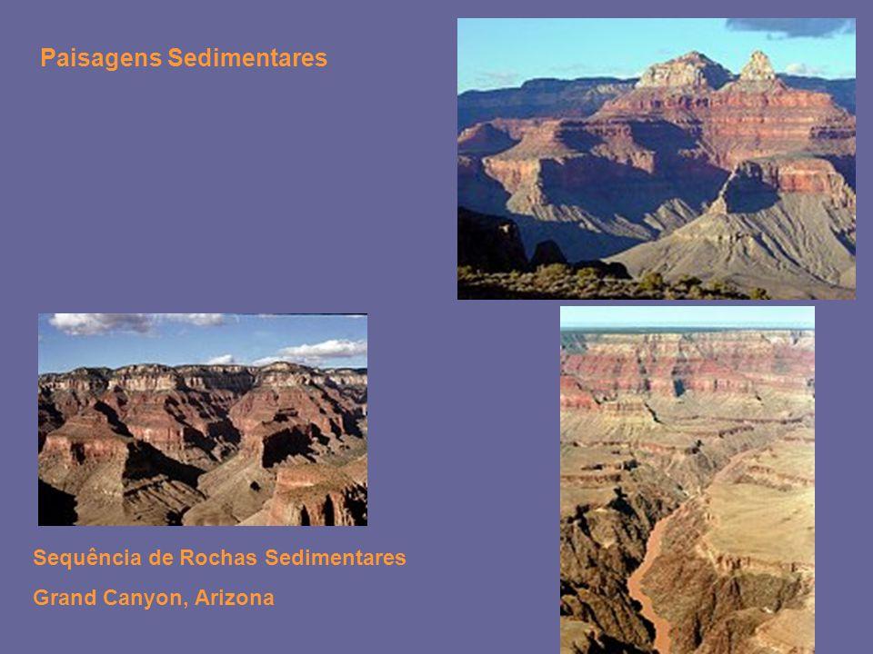 Sequência de Rochas Sedimentares Grand Canyon, Arizona Paisagens Sedimentares