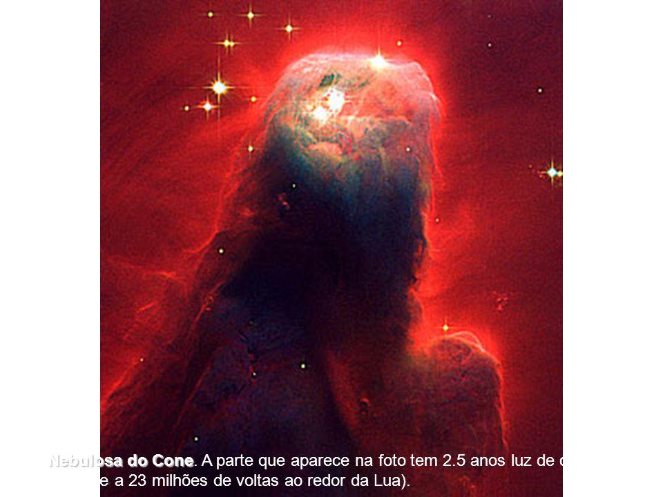 [6] A Nebulosa do Cone Cone. A parte que aparece na foto tem 2.5 anos luz de comprimento (o equivalente a 23 milhões de voltas ao redor da Lua).