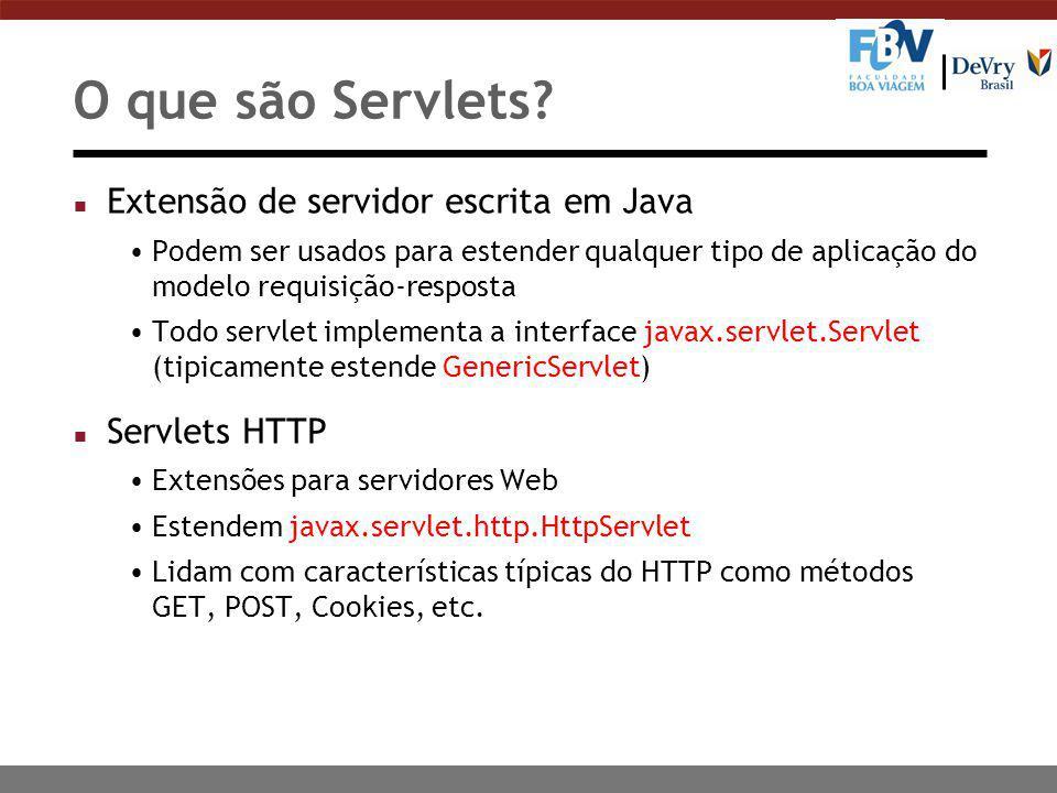 O que são Servlets.