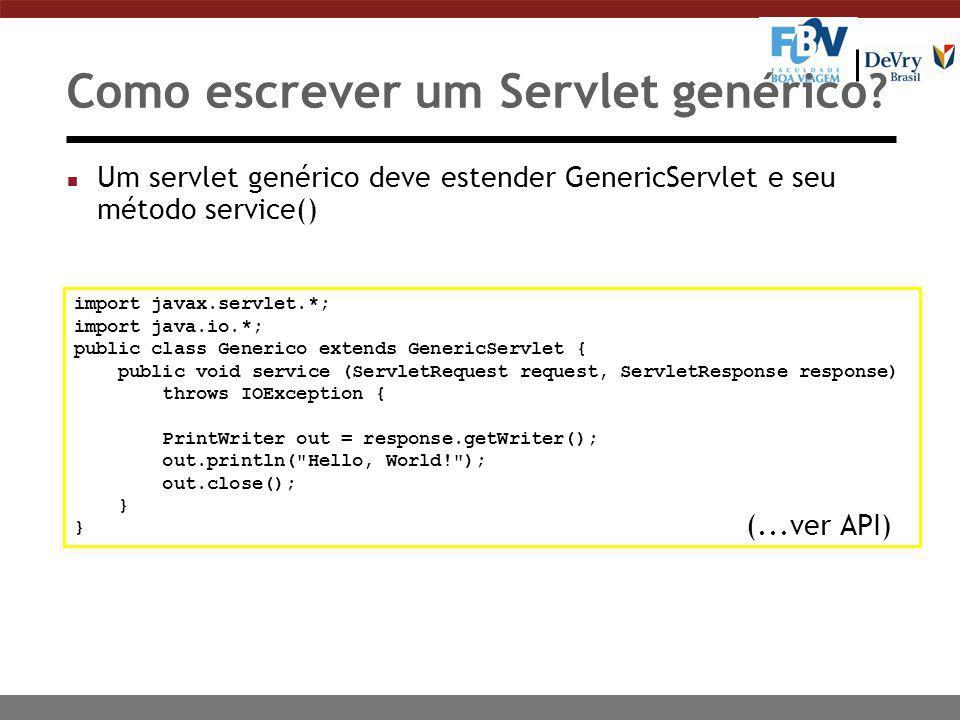 Como escrever um Servlet genérico.
