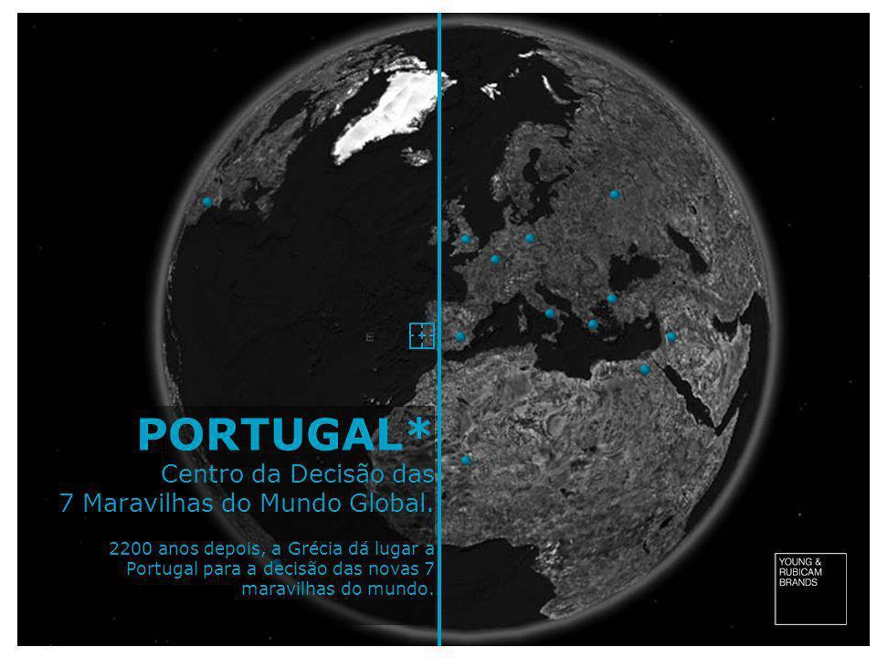 PORTUGAL* Centro da Decisão das 7 Maravilhas do Mundo Global. 2200 anos depois, a Grécia dá lugar a Portugal para a decisão das novas 7 maravilhas do