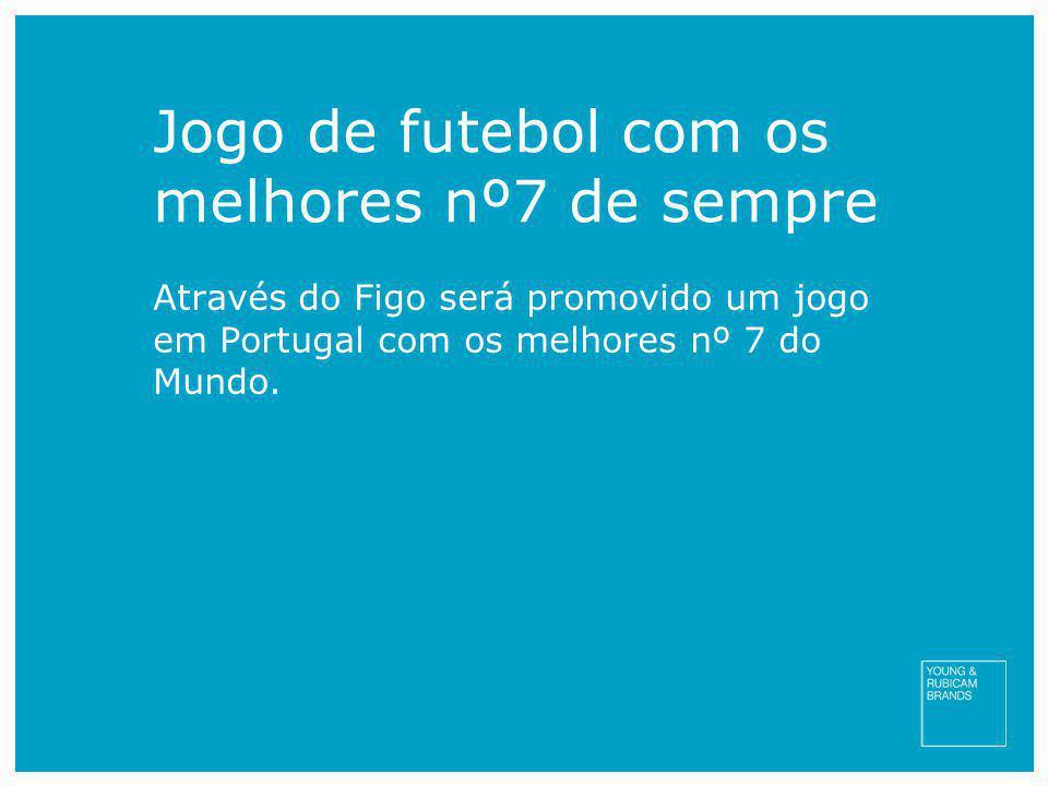 Jogo de futebol com os melhores nº7 de sempre Através do Figo será promovido um jogo em Portugal com os melhores nº 7 do Mundo.