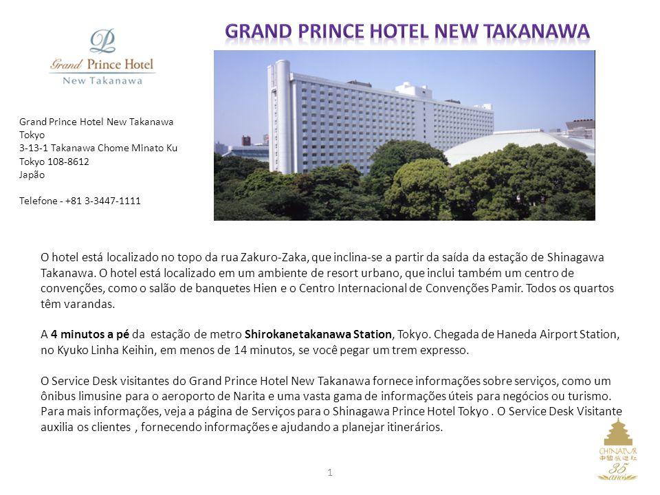 O hotel está localizado no topo da rua Zakuro-Zaka, que inclina-se a partir da saída da estação de Shinagawa Takanawa. O hotel está localizado em um a
