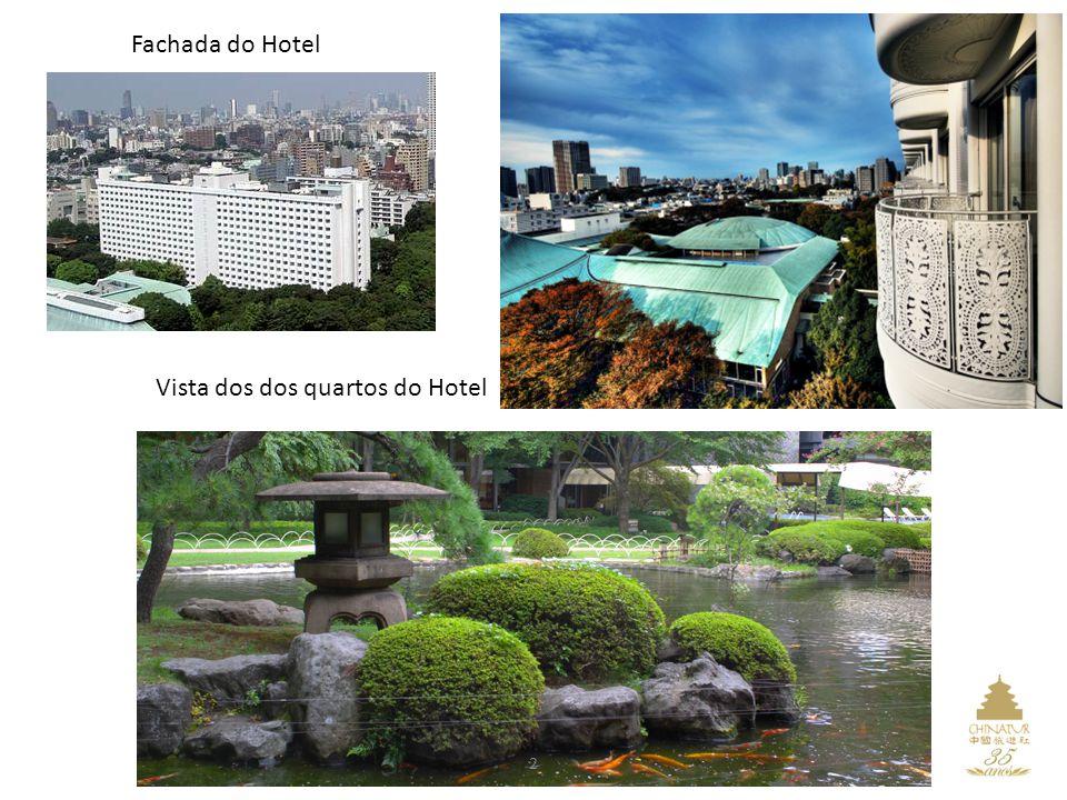 Vista dos dos quartos do Hotel Fachada do Hotel 2