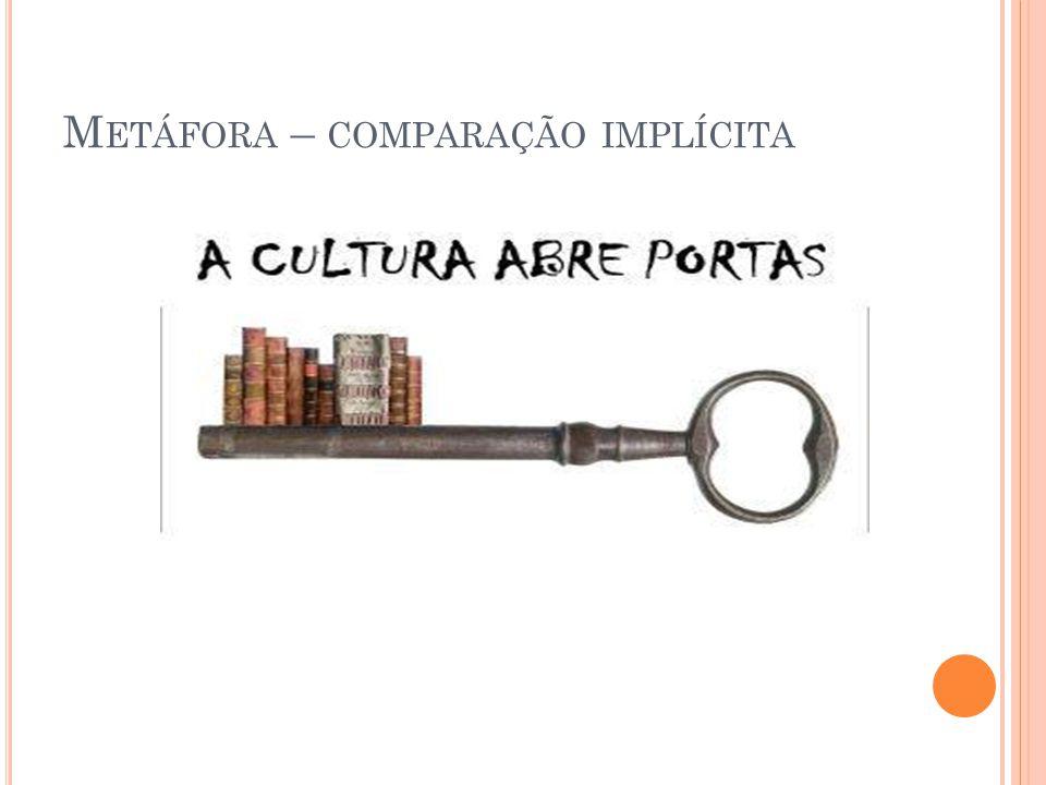 M ETÁFORA – COMPARAÇÃO IMPLÍCITA