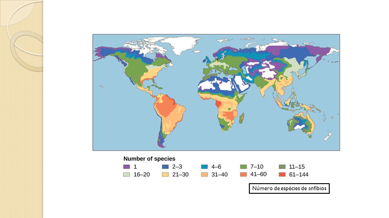 Número de espécies de anfíbios