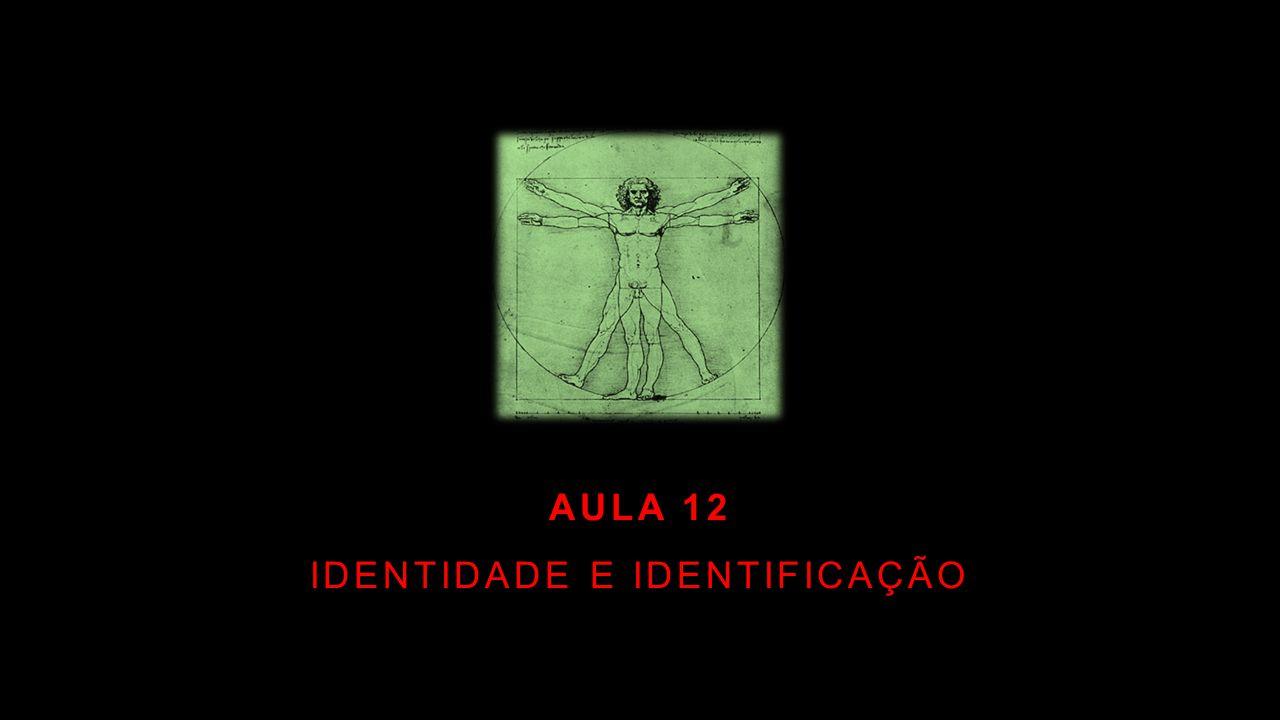AULA 12 IDENTIDADE E IDENTIFICAÇÃO