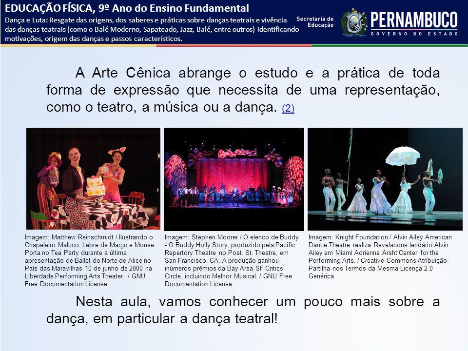 A Arte Cênica abrange o estudo e a prática de toda forma de expressão que necessita de uma representação, como o teatro, a música ou a dança. (2) (2)