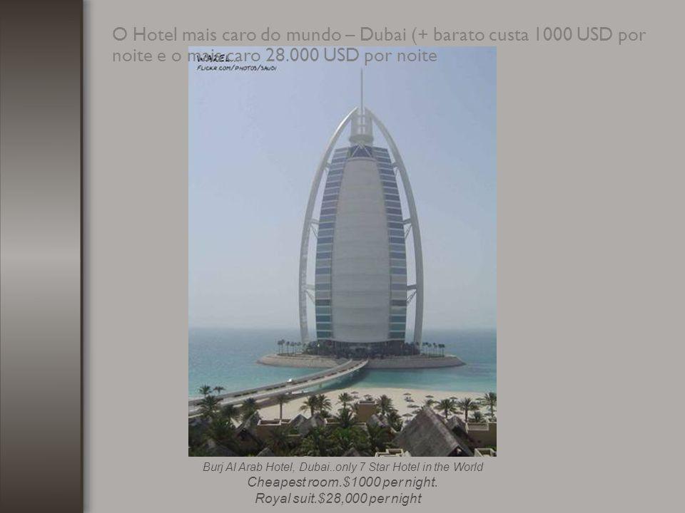 O edifício mais alto do mundo – Dubai (900 metros)