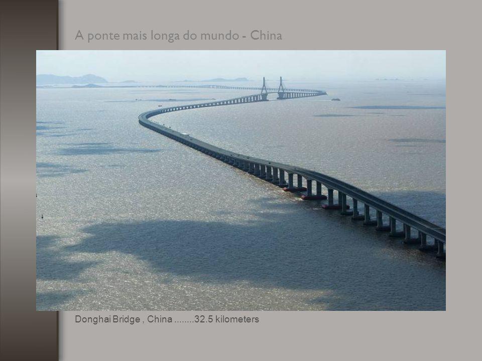 A ponte mais longa do mundo - China