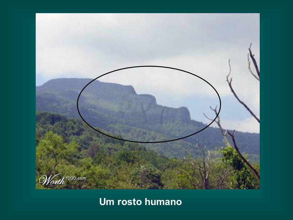 Sim Porém, o efeito é surpreendente se rodarmos a foto 90º A semelhança impressionante da massa montanhosa com uma face humana gigantesca, adornada co