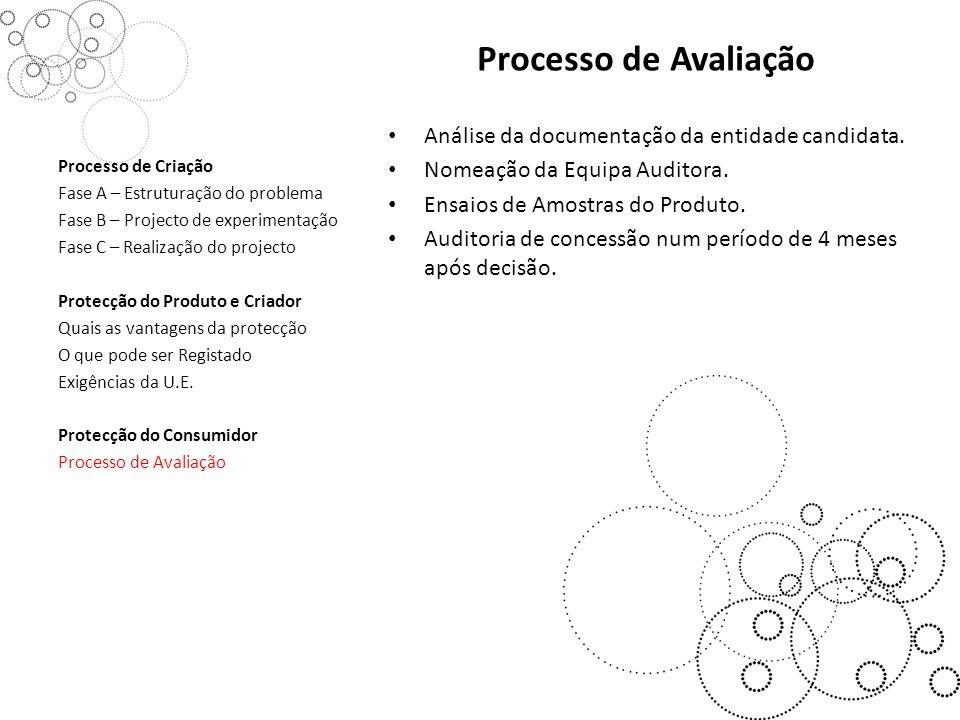 Processo de Avaliação Análise da documentação da entidade candidata.