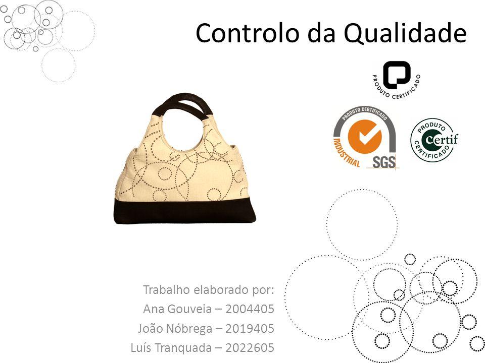 Controlo da Qualidade Trabalho elaborado por: Ana Gouveia – 2004405 João Nóbrega – 2019405 Luís Tranquada – 2022605