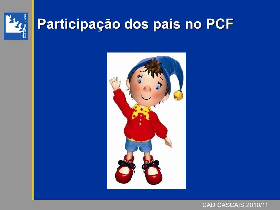 CAD CASCAIS 2006/07CAD CASCAIS 2010/11 Participação dos pais no PCF