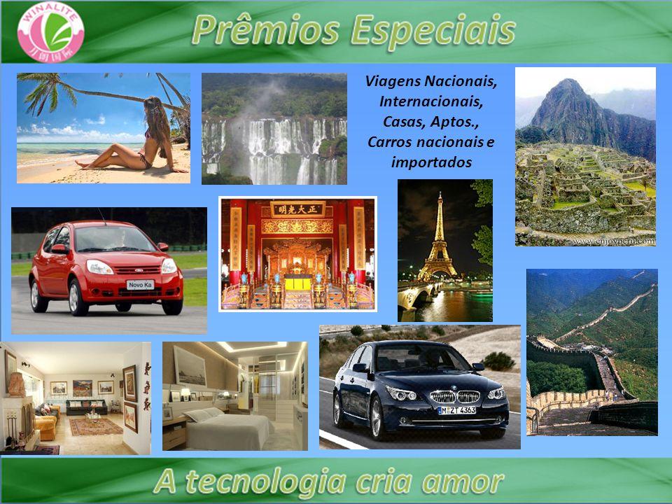 Viagens Nacionais, Internacionais, Casas, Aptos., Carros nacionais e importados