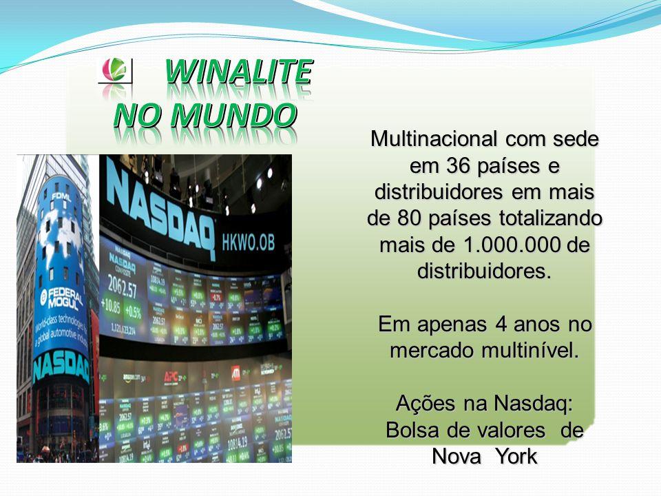 Multinacional com sede em 36 países e distribuidores em mais de 80 países totalizando mais de 1.000.000 de distribuidores.