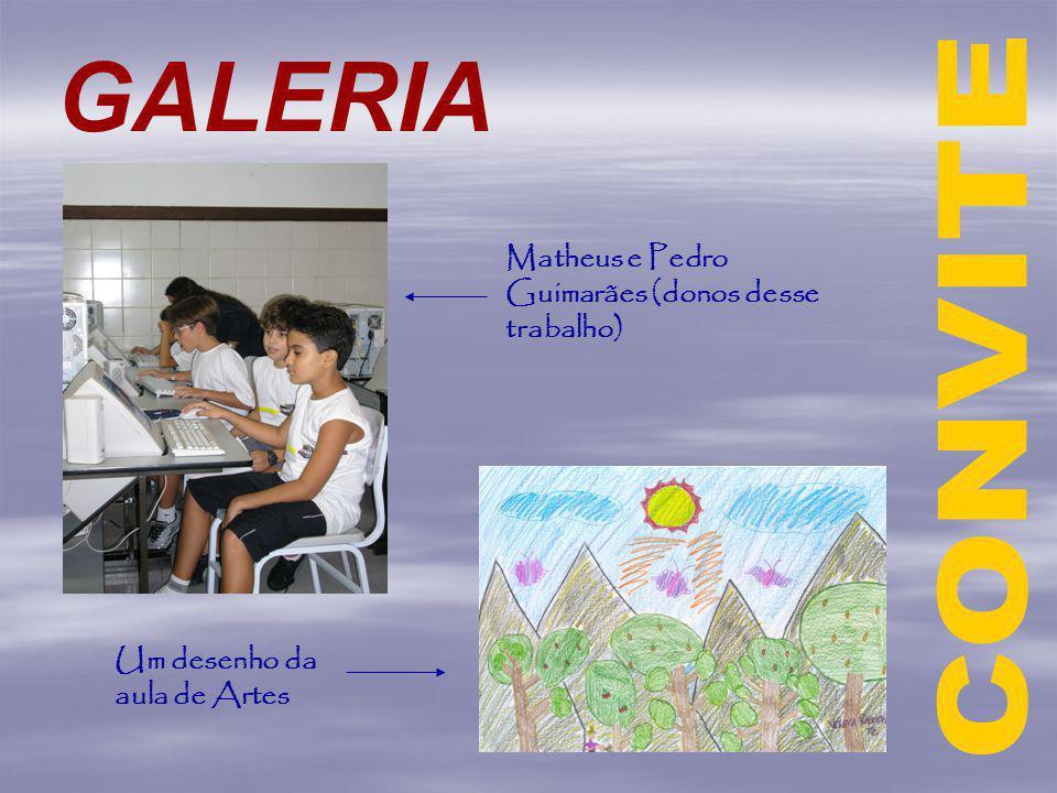GALERIA Matheus e Pedro Guimarães (donos desse trabalho) Um desenho da aula de Artes