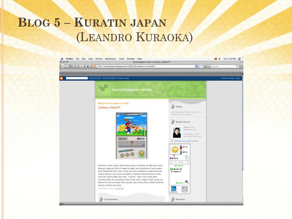 B LOG 5 – K URATIN JAPAN (L EANDRO K URAOKA )