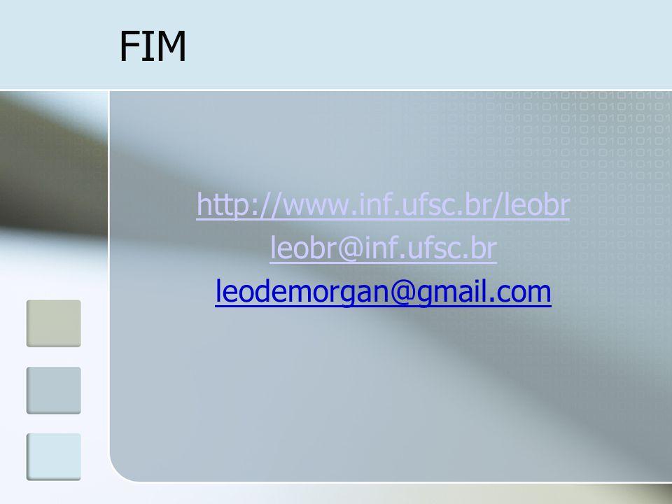 FIM http://www.inf.ufsc.br/leobr leobr@inf.ufsc.br leodemorgan@gmail.com