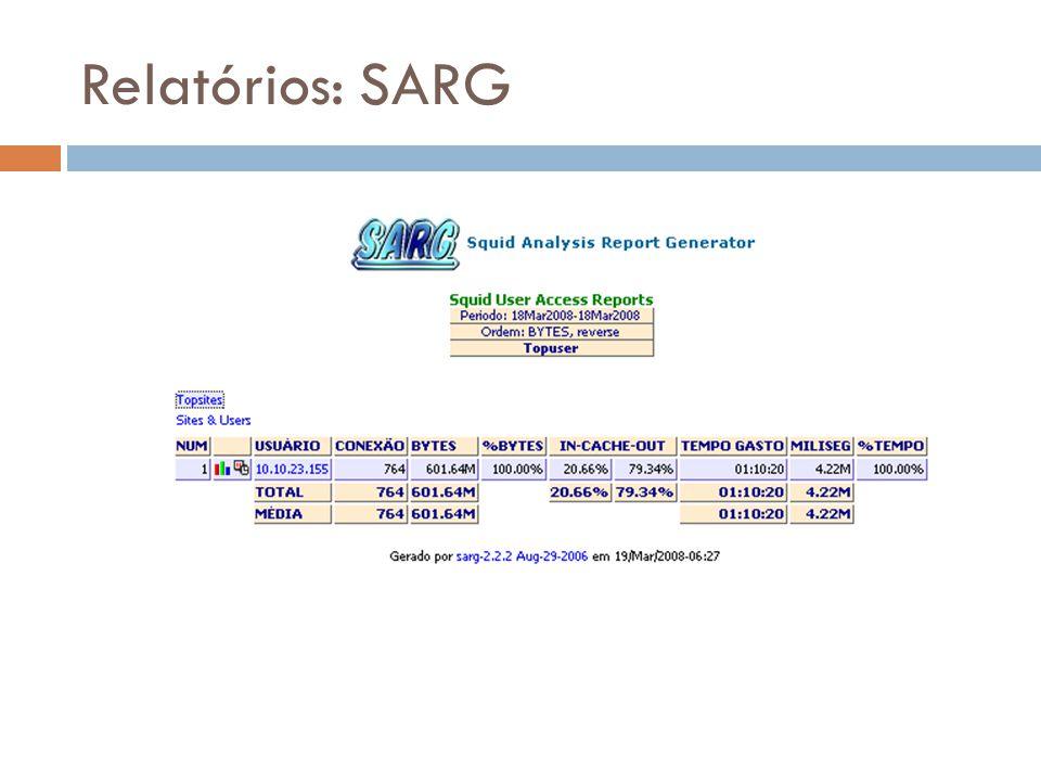Relatórios: SARG