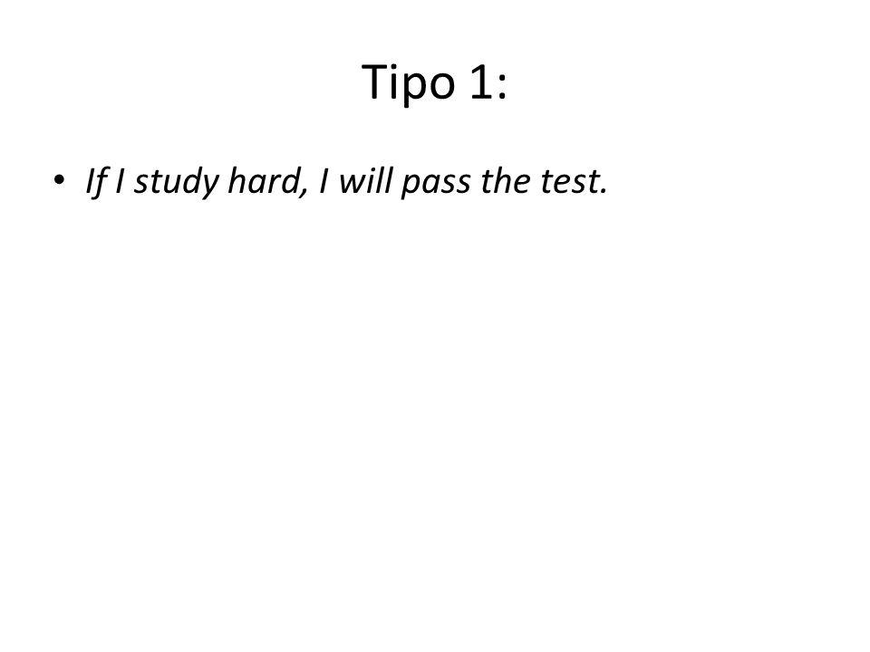 Tipo 1: If I study hard, I will pass the test.