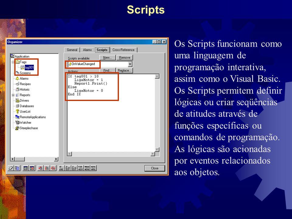 Scripts Os Scripts funcionam como uma linguagem de programação interativa, assim como o Visual Basic.