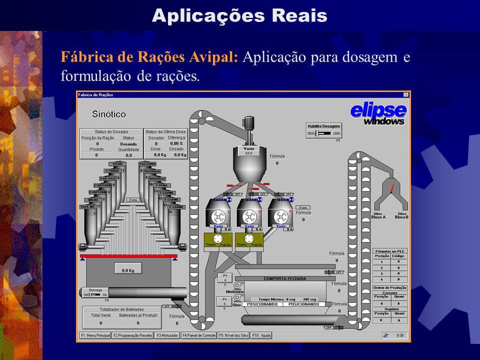 Aplicações Reais Fábrica de Rações Avipal: Aplicação para dosagem e formulação de rações.