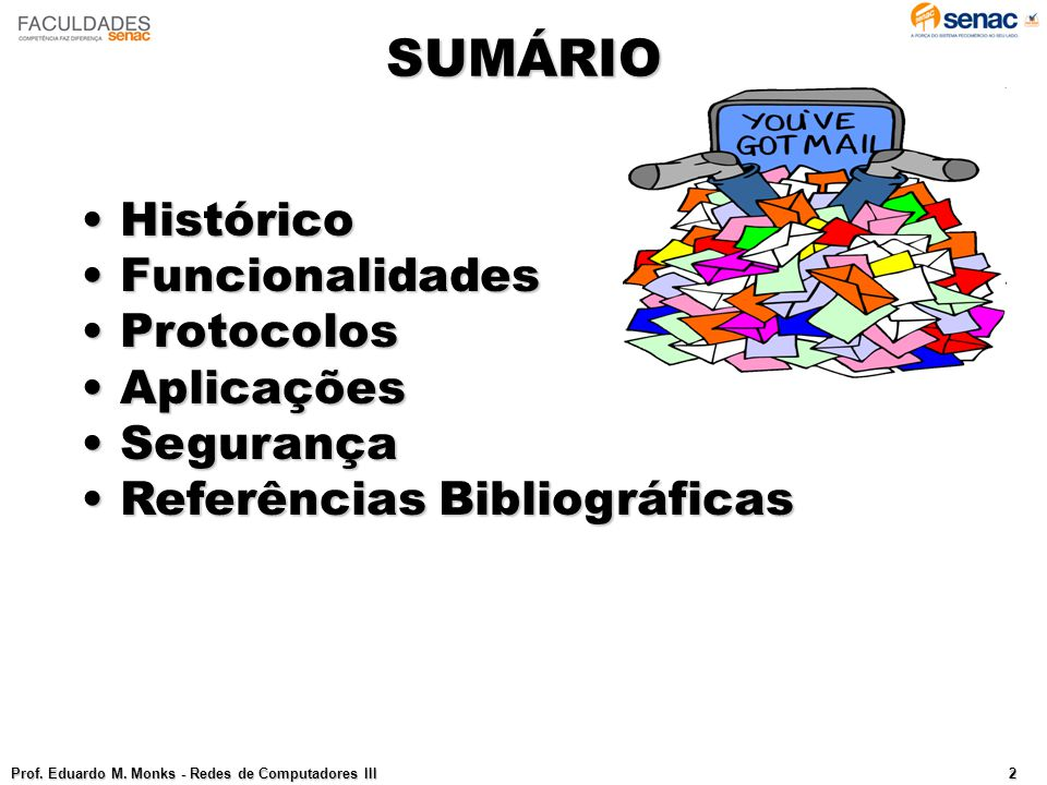 SUMÁRIO Prof.Eduardo M.