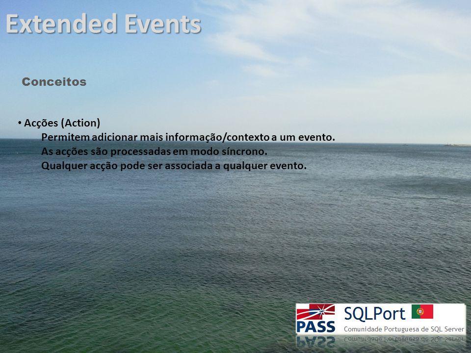 Extended Events Conceitos Predicados (Perdicates) Funcionam como filtros.