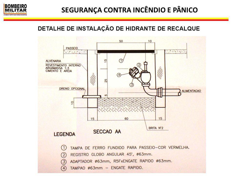 SEGURANÇA CONTRA INCÊNDIO E PÂNICO 15 DETALHE DE INSTALAÇÃO DE HIDRANTE DE RECALQUE