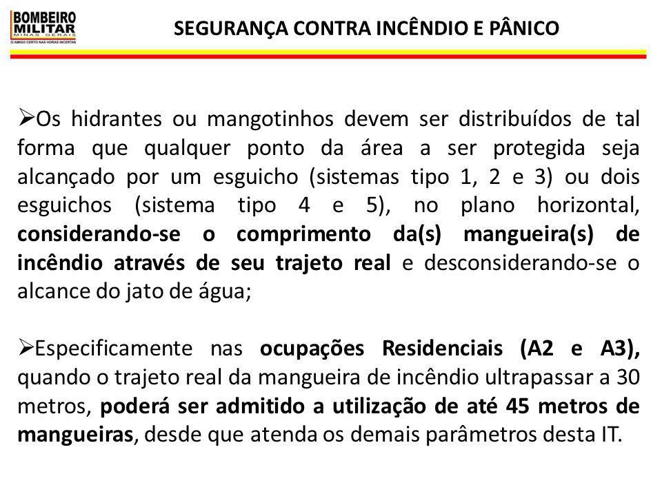SEGURANÇA CONTRA INCÊNDIO E PÂNICO 24  Os hidrantes ou mangotinhos devem ser distribuídos de tal forma que qualquer ponto da área a ser protegida sej