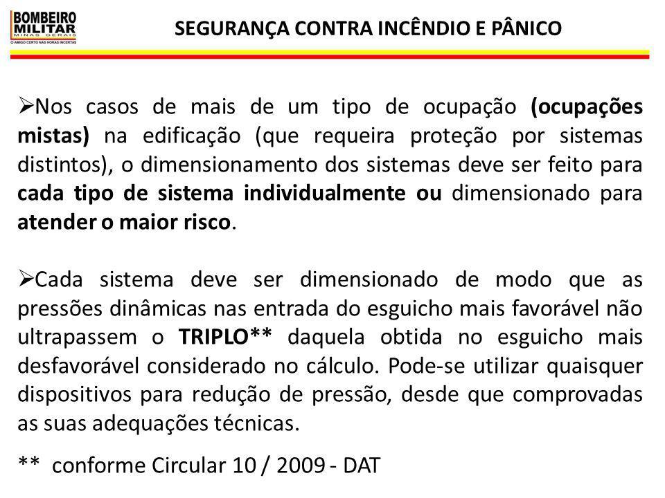SEGURANÇA CONTRA INCÊNDIO E PÂNICO 26  Nos casos de mais de um tipo de ocupação (ocupações mistas) na edificação (que requeira proteção por sistemas