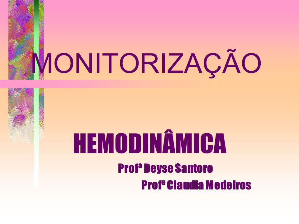 MONITORIZAÇÃO HEMODINÂMICA Profª Deyse Santoro Profª Claudia Medeiros