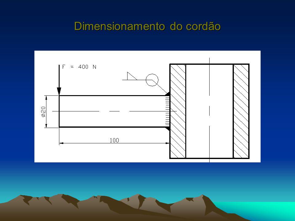 Dimensionamento do cordão