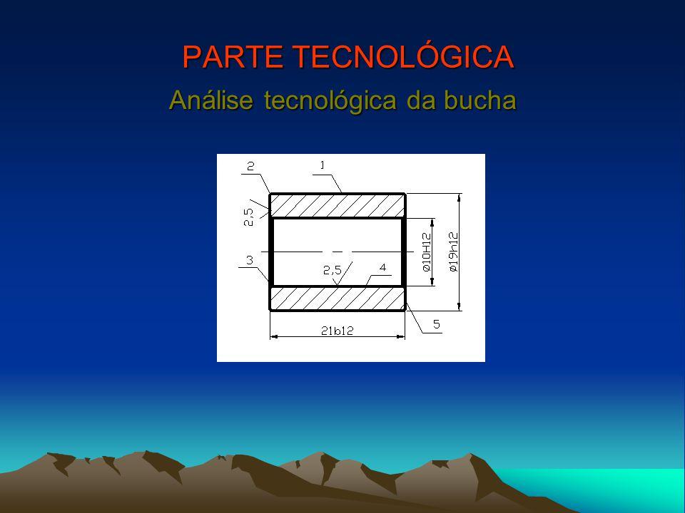 PARTE TECNOLÓGICA Análise tecnológica da bucha