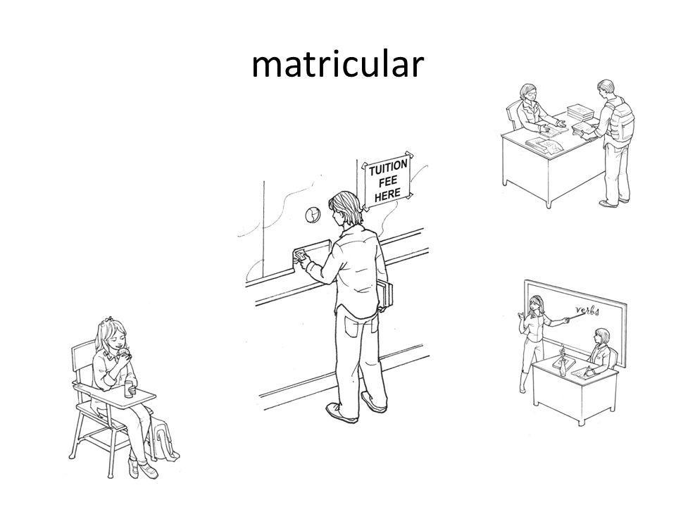 matricular
