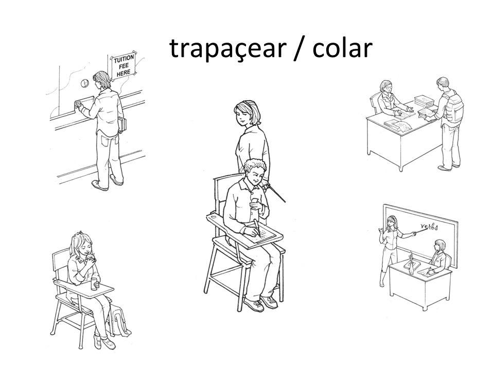 trapaçear / colar
