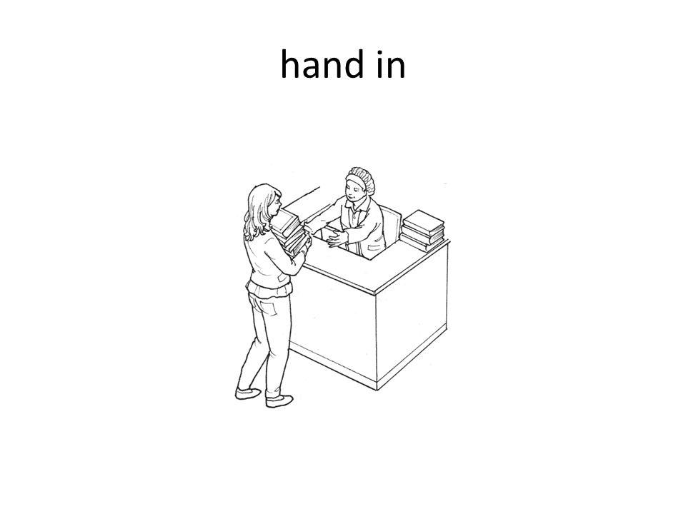 hand in