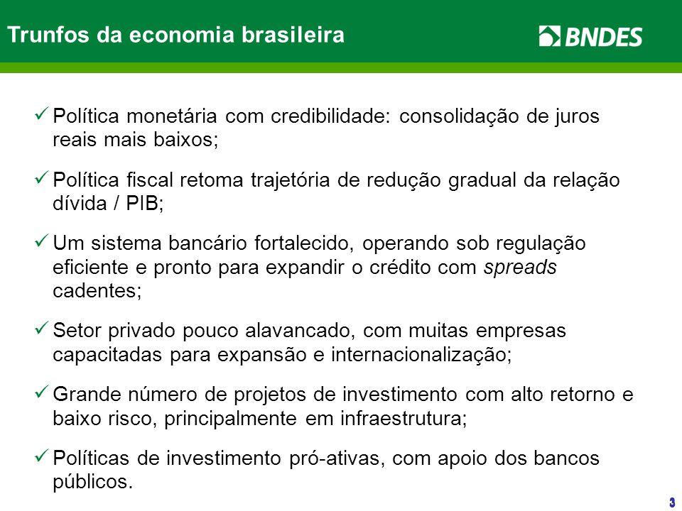 33 3 Política monetária com credibilidade: consolidação de juros reais mais baixos; Política fiscal retoma trajetória de redução gradual da relação dí