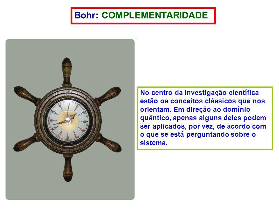 Bohr: COMPLEMENTARIDADE No centro da investigação científica estão os conceitos clássicos que nos orientam.