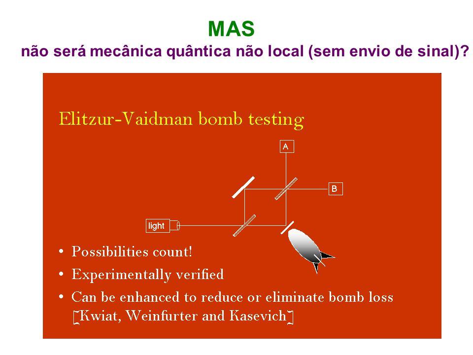 MAS não será mecânica quântica não local (sem envio de sinal)?