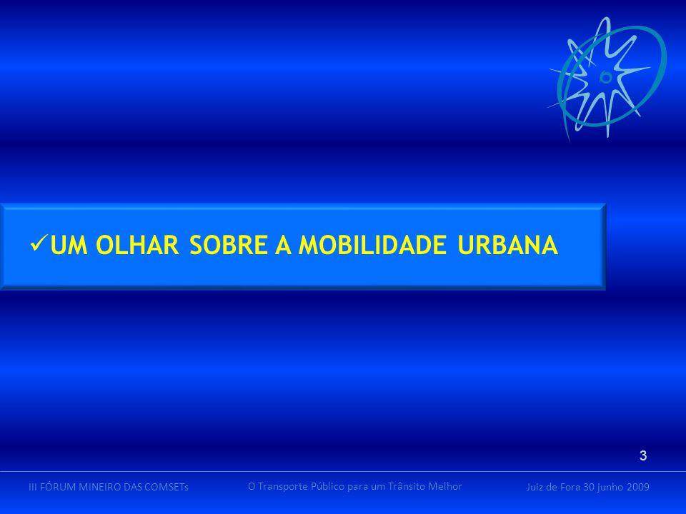 Juiz de Fora 30 junho 2009III FÓRUM MINEIRO DAS COMSETs O Transporte Público para um Trânsito Melhor incidência média de tributos, taxas e encargos : 24,62% percentual de demanda gratuita (2007) : IncidênciaGratuidadeImpacto na Tarifa Máxima40,84%29,00% Média23,64%18,51% Brasil Fonte NTU – Associação Nacional das Empresas de Transporte Urbano 34