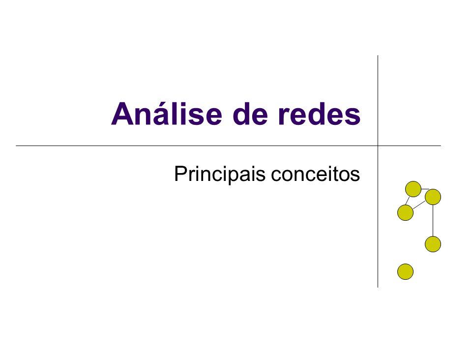 Análise de redes Principais conceitos