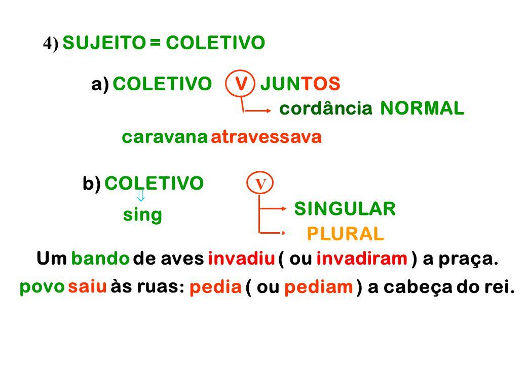 1ª prevalece sobre 2ª e 3ª prevalece sobre 3ª 2ª prevalece sobre 2ª 3ª       1ª plural: NÓS 2ª plural: VÓS 3ª plural: ELES 3) SUJEITO = PESSOAS