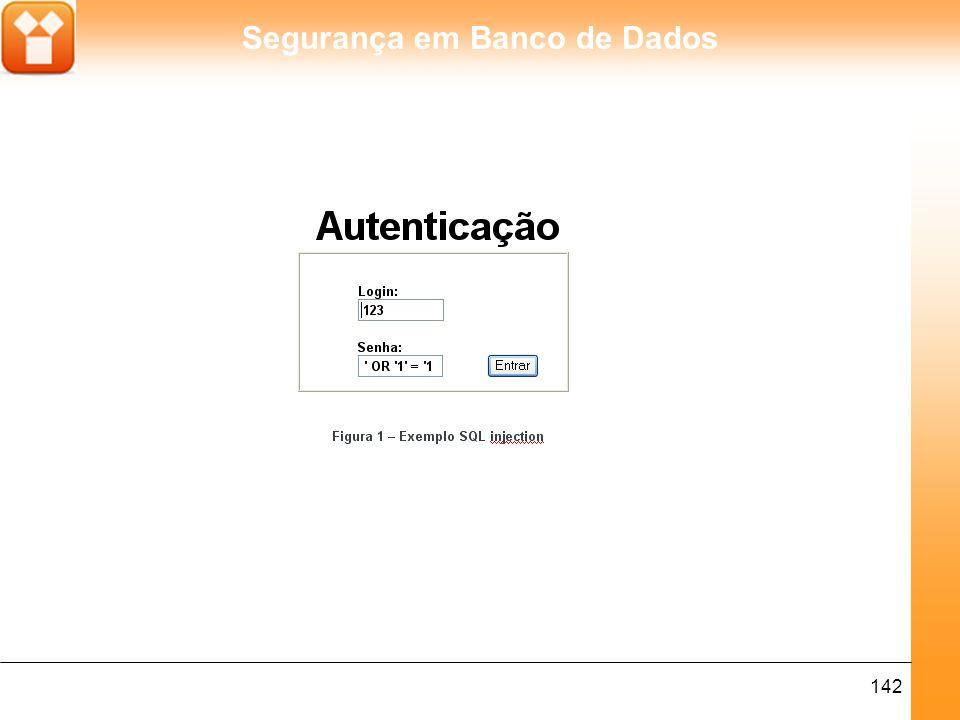 Segurança em Banco de Dados 142