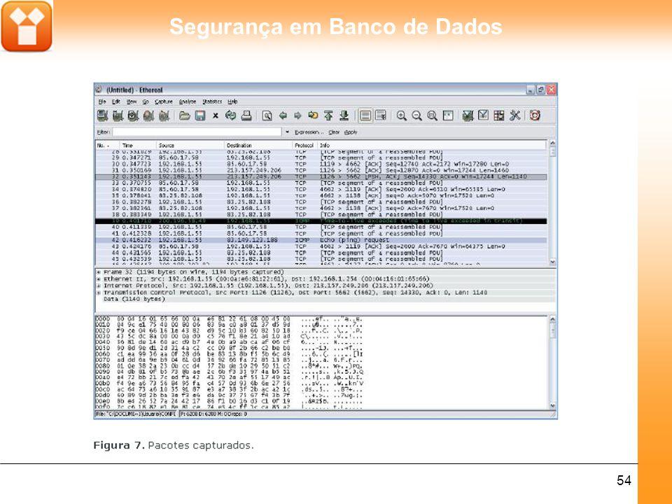 Segurança em Banco de Dados 54